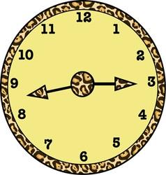 Animal print clock vector