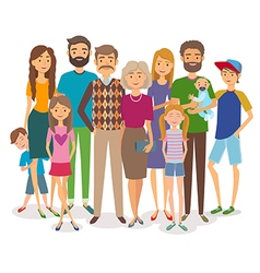 Big happy family Several generations vector image vector image
