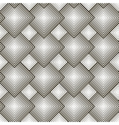 Black and white pattern with rhombuses vector image vector image