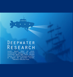 blurred underwater background with submarine vector image vector image
