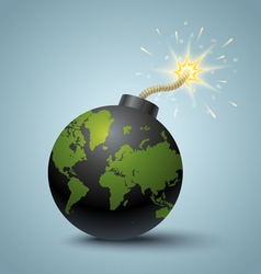 Bomb global vector image vector image