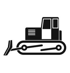 Bulldozer icon simple vector
