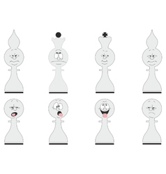 Cartoon chess set 02 vector image vector image