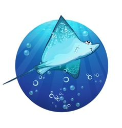 Cartoon drawing of a fish ramp vector