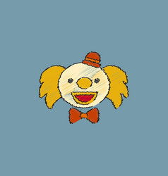 Circus clown in hatching style vector