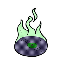 comic cartoon magic vinyl record vector image vector image