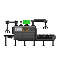 Conveyor belt system with manipulators vector