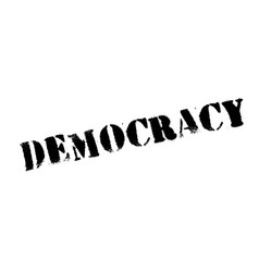 democracy rubber stamp vector image vector image