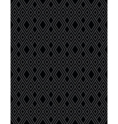 Diamond pattern black vector image vector image