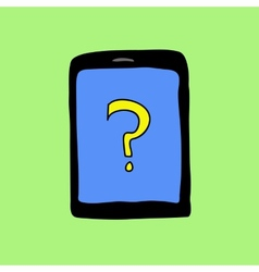 Doodle pad with question mark vector image