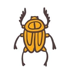 Egypt scarab beetle vector image vector image