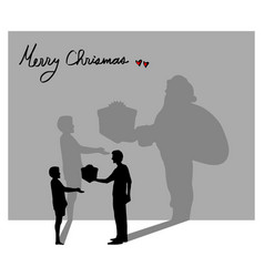 everyone can be santa claus in christmas vector image
