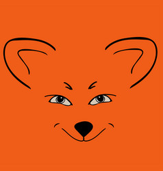 Fox red head animal sly eyes vector