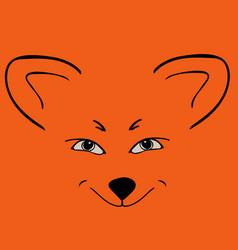 Fox red head animal sly eyes vector