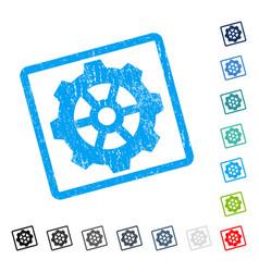 Gear icon rubber watermark vector