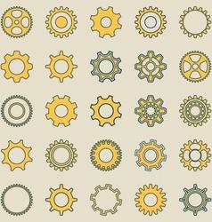 Gear wheel retro collection vector