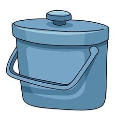 Ice bucket vector image