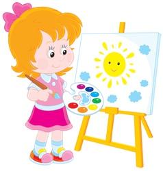 Little artist vector