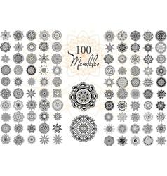 Mandala Card Set vector image