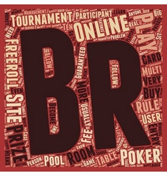 Play online poker tournament 1 text background vector