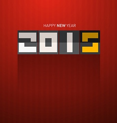 Retro happy new year 2015 title on dark red vector
