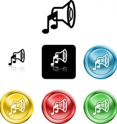 speaker sound icons vector image