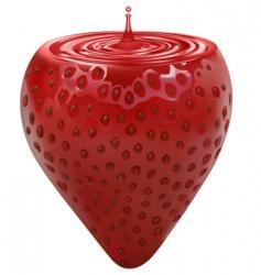 strawbery vector image