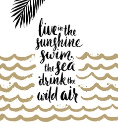 Summer handwritten calligraphy quotes vector