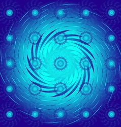 The pattern of blue spirals vector image