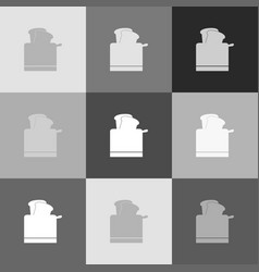 toaster simple sign grayscale version of vector image vector image