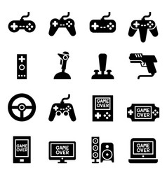 video game controller joystick gamepad icon vector image