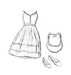 Women clothes and accessories vector image vector image
