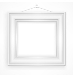 Wooden frame on white vector image vector image