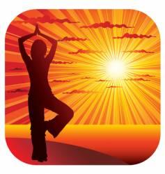 yoga gymnastics vector image