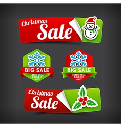 022 collection of colorful merry christmas web tag vector