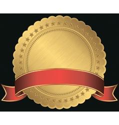 Golden Sticker Labels vector image