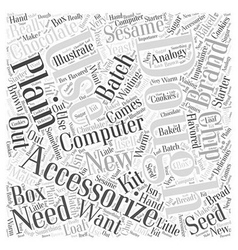 Accessorizing computers word cloud concept vector