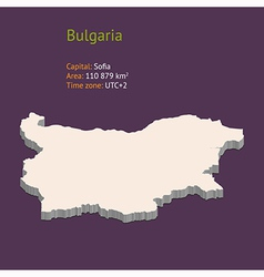3d map of bulgaria vector