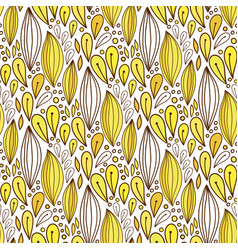 Floral seamless pattern in yellow color spring vector