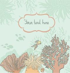 corallsandthefishtext vector image
