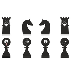 Cartoon chess set 03 vector