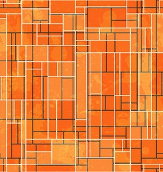 Abstract orange rectangle seamless pattern with vector