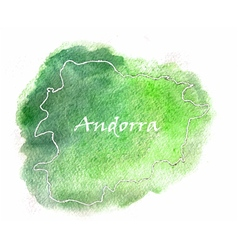Andorra watercolor map vector