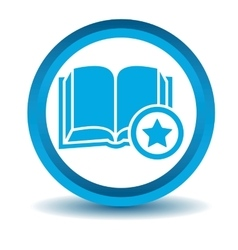 Favorite book icon blue 3d vector