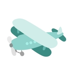 Air plane cartoon toy vector