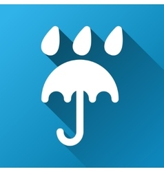 Umbrella under rain gradient square icon vector