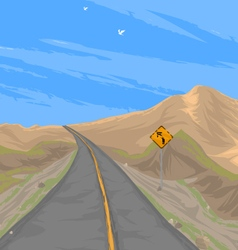 Country road scenery vector image