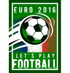 Euro 2016 football championship background with vector