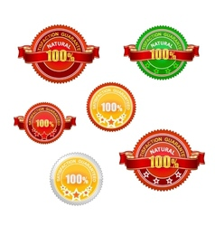 Nature and quality emblems set isolated vector