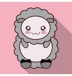 Kawaii sheep icon cute animal graphic vector